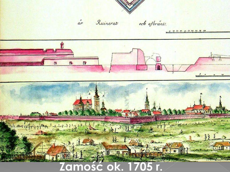 Plan Zamościa w poł. XVII wieku