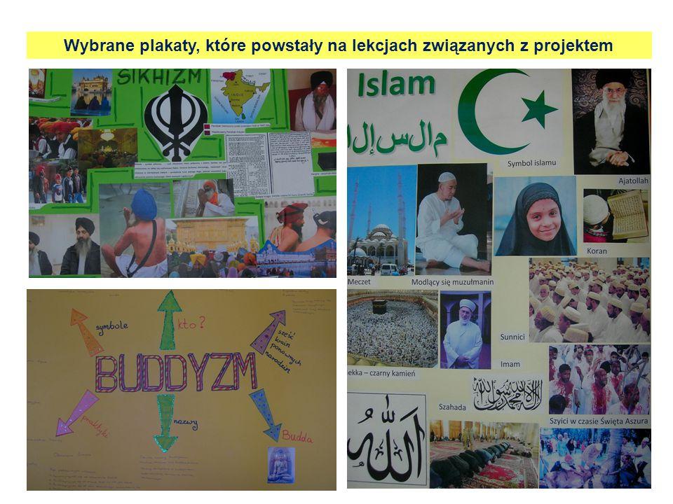 Wybrane plakaty, które powstały na lekcjach związanych z projektem