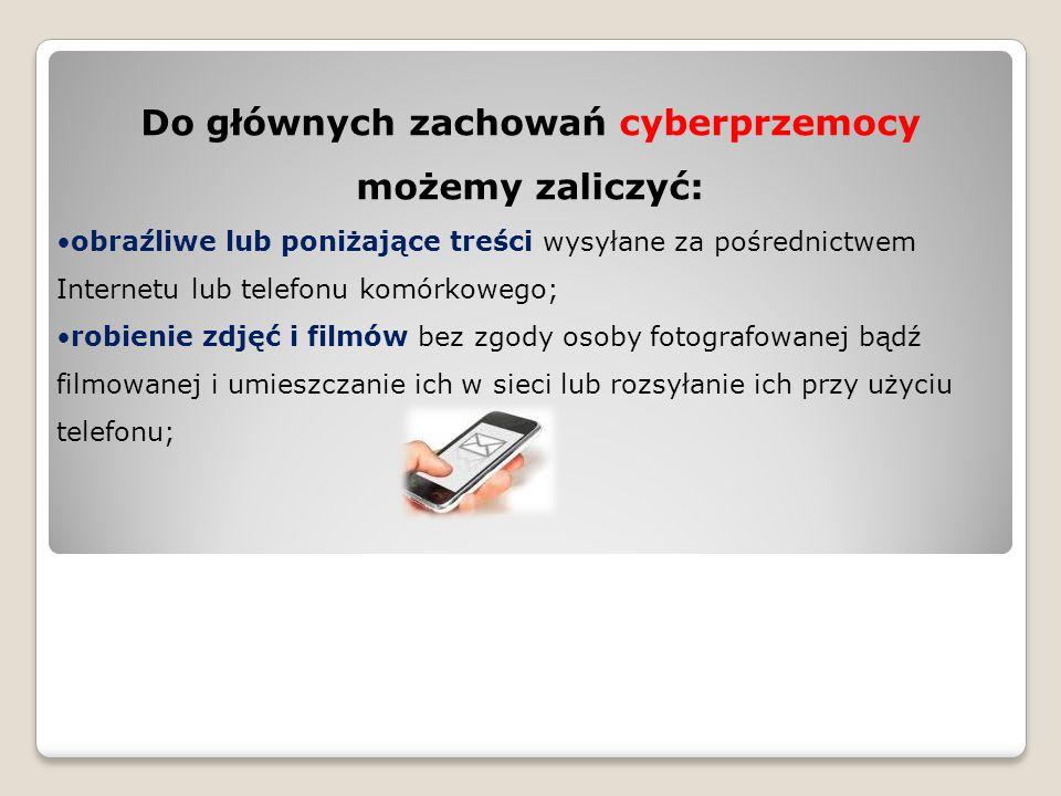 podszywanie się pod kogoś w Internecie włamania na strony internetowe lub prywatne konta (np.