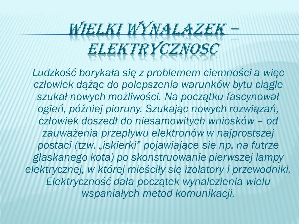  Telegraf – był pierwszym z elektrycznych wynalazków.
