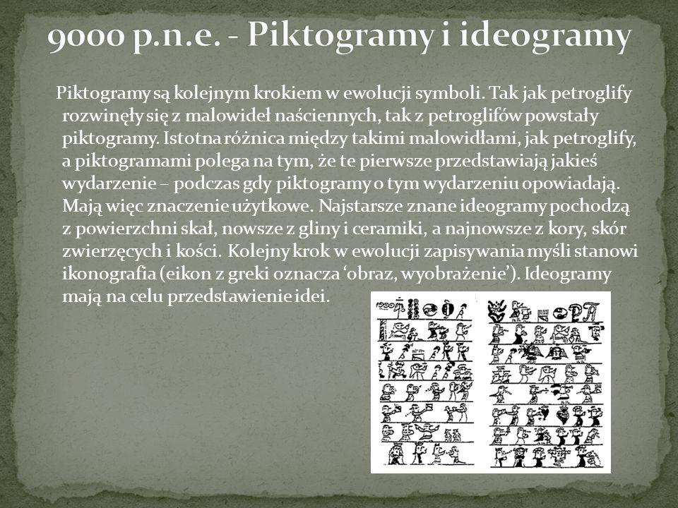 Piktogramy są kolejnym krokiem w ewolucji symboli. Tak jak petroglify rozwinęły się z malowideł naściennych, tak z petroglifów powstały piktogramy. Is