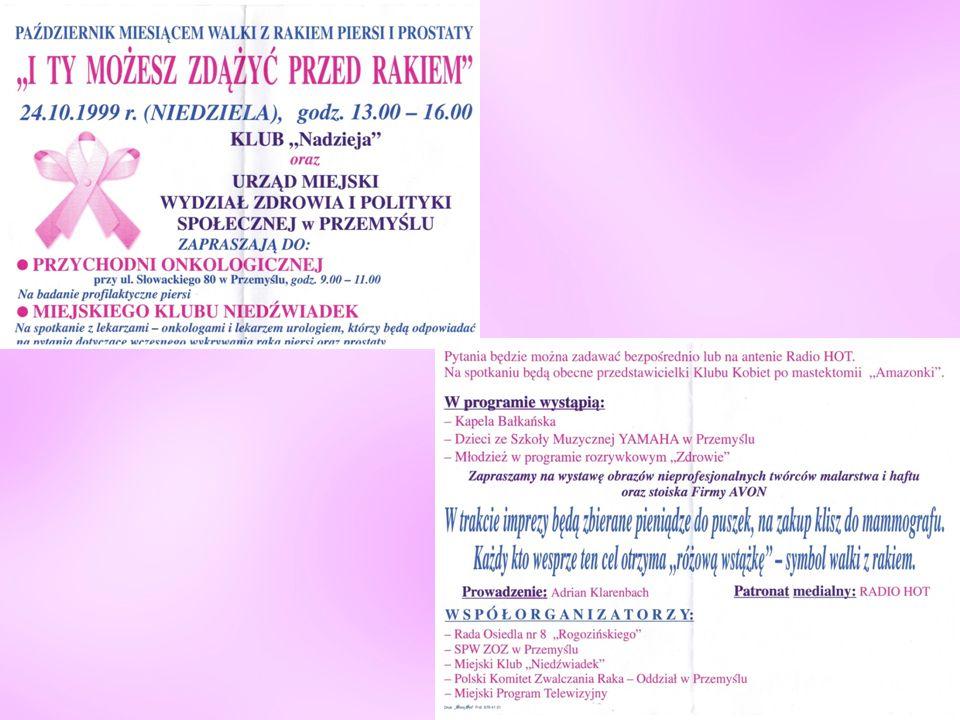 """Organizujemy w mieście """"Marsze Życia i Nadziei """" """"Breast Health Day oraz Profilaktykę Raka Piersi"""