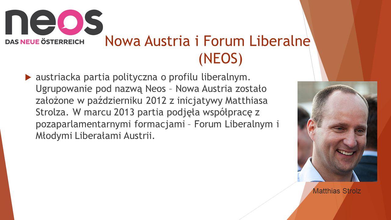 Nowa Austria i Forum Liberalne (NEOS)  austriacka partia polityczna o profilu liberalnym.