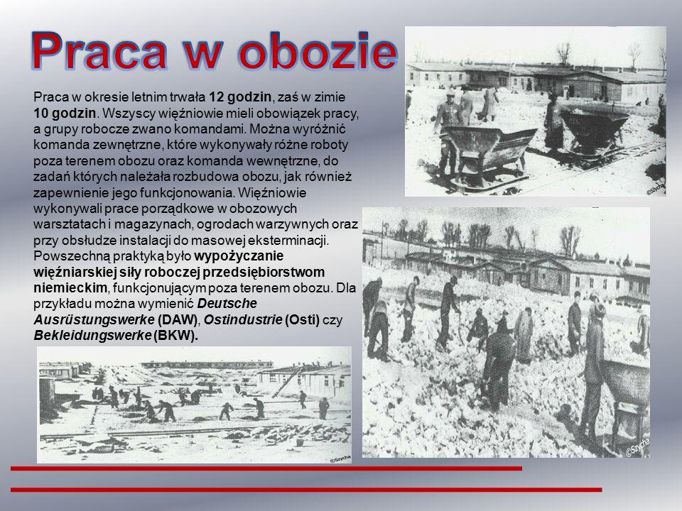 Więźniów deportowanych do obozu umieszczano w drewnianych barakach, jednorazowo po 500 i więcej osób. Były one często nieszczelne i pozbawione kanaliz