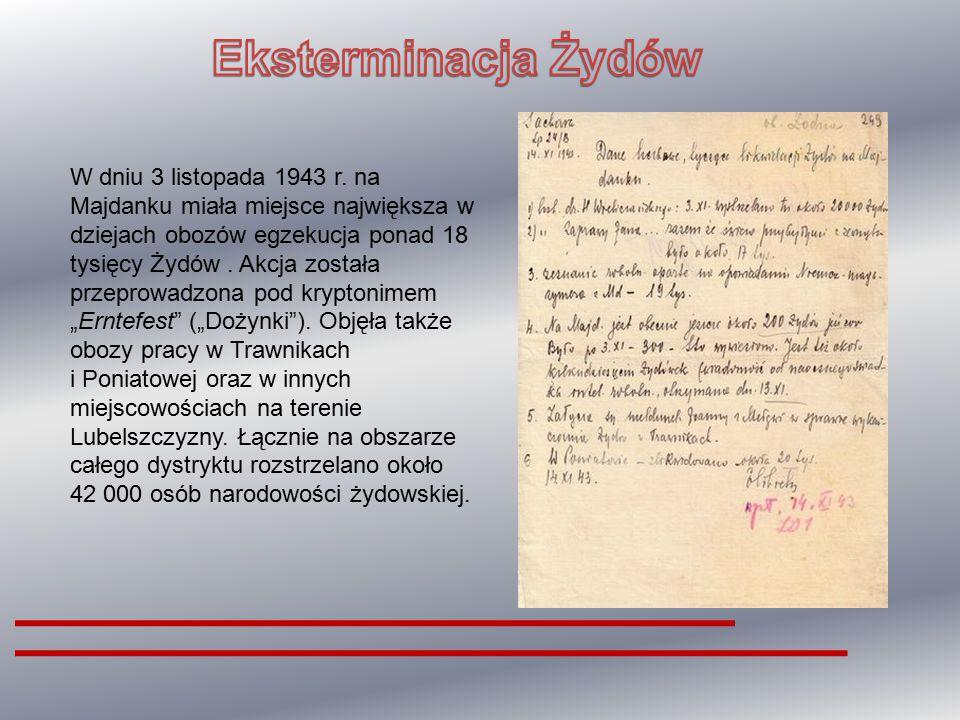 """W lipcu 1942 roku dokonano zamówienia na """"Cyklon B"""" w zakładach Tesch & Stabenow w Hamburgu. Pierwszą partię trującego gazu dostarczono do obozu w ost"""