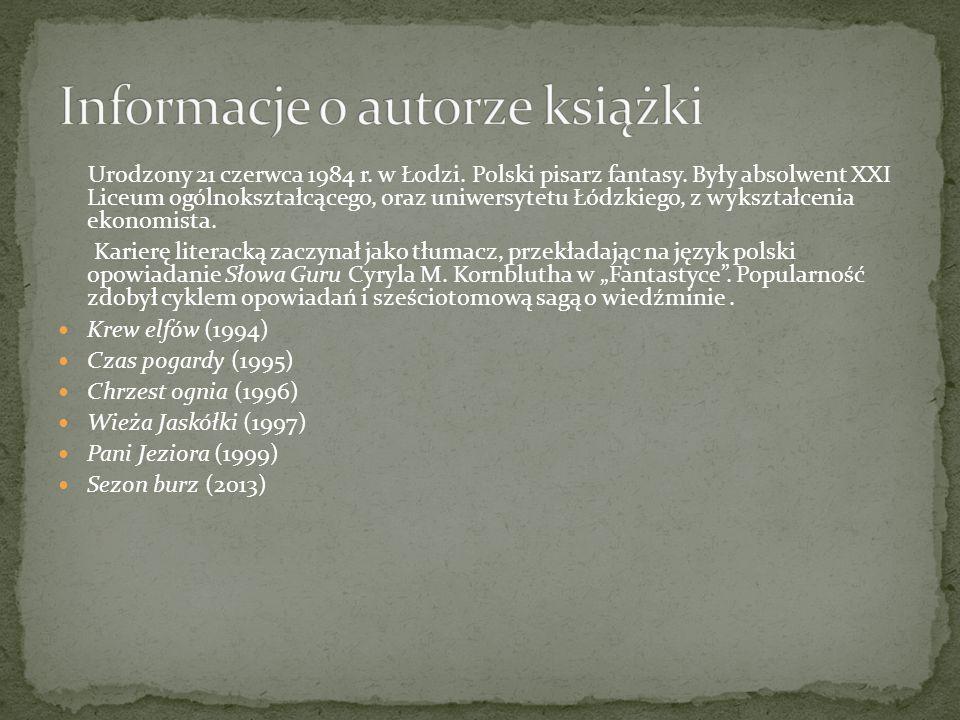 Urodzony 21 czerwca 1984 r. w Łodzi. Polski pisarz fantasy.