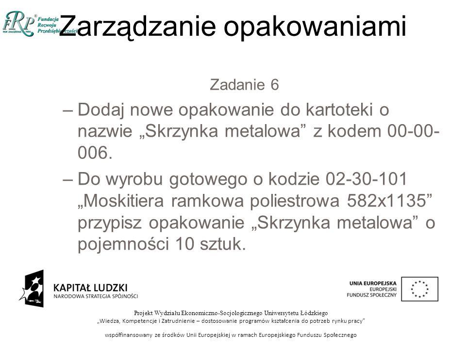 """Projekt Wydziału Ekonomiczno-Socjologicznego Uniwersytetu Łódzkiego """"Wiedza, Kompetencje i Zatrudnienie – dostosowanie programów kształcenia do potrze"""