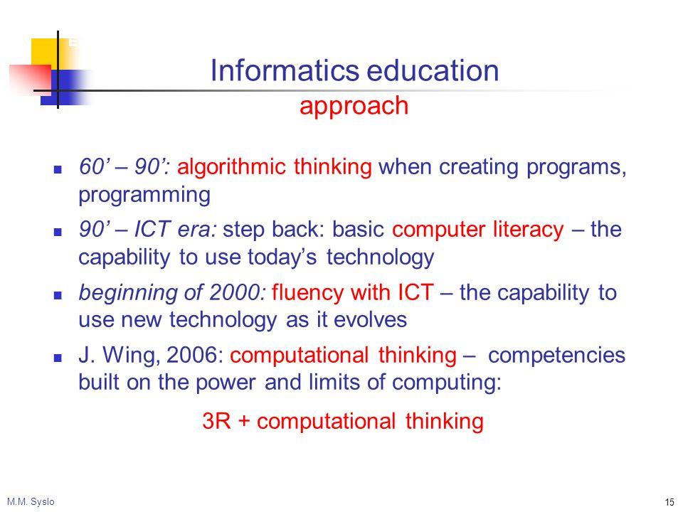 Ewolucja szkoły ku elastycznemu systemowi kształcenia M.M.