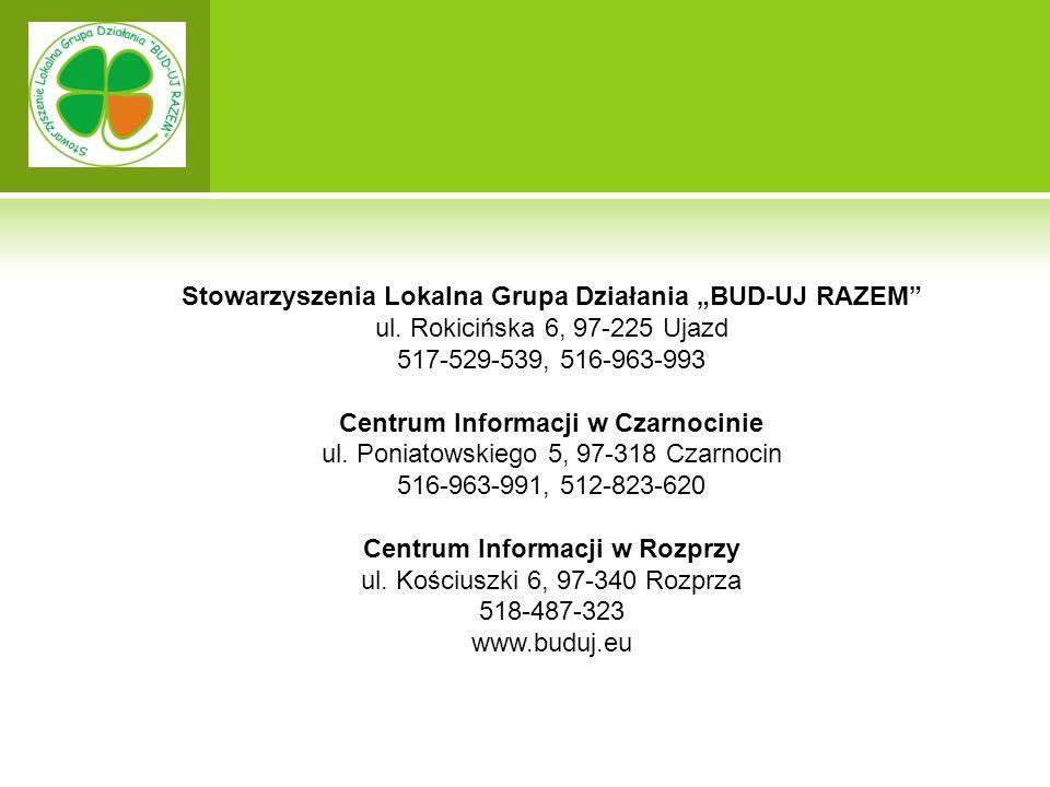 """Stowarzyszenia Lokalna Grupa Działania """"BUD-UJ RAZEM ul."""