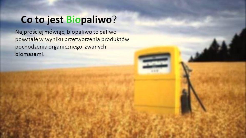 Co to jest Biopaliwo? Najprościej mówiąc, biopaliwo to paliwo powstałe w wyniku przetworzenia produktów pochodzenia organicznego, zwanych biomasami.