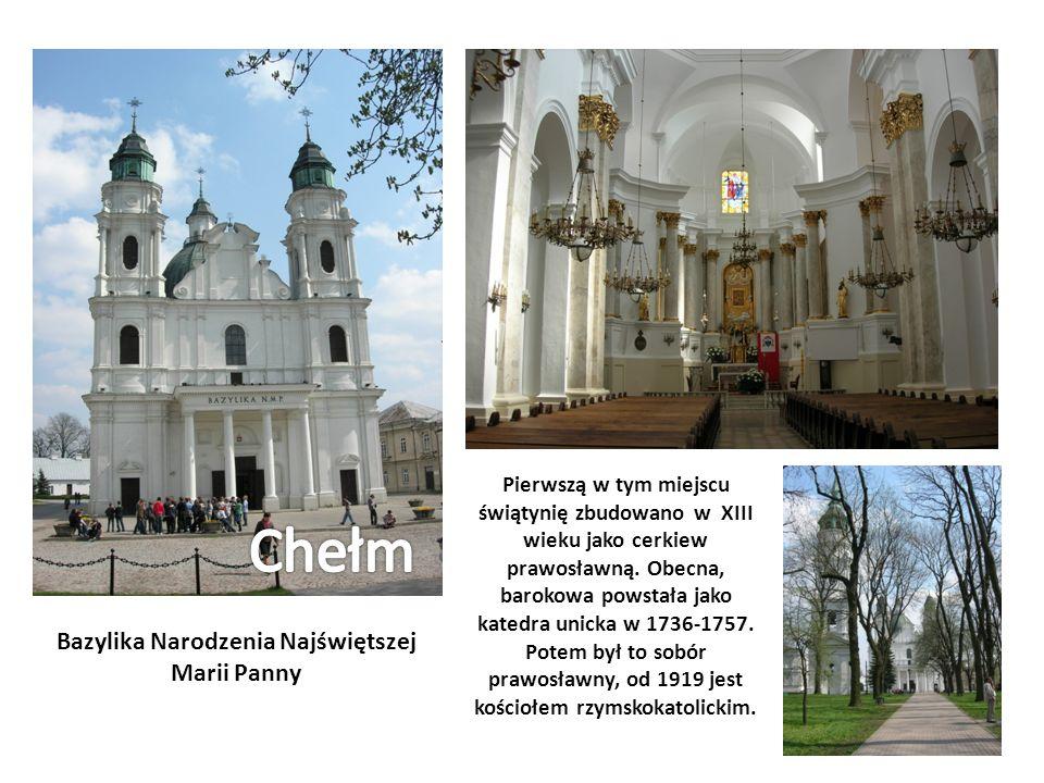 Pierwszą w tym miejscu świątynię zbudowano w XIII wieku jako cerkiew prawosławną. Obecna, barokowa powstała jako katedra unicka w 1736-1757. Potem był