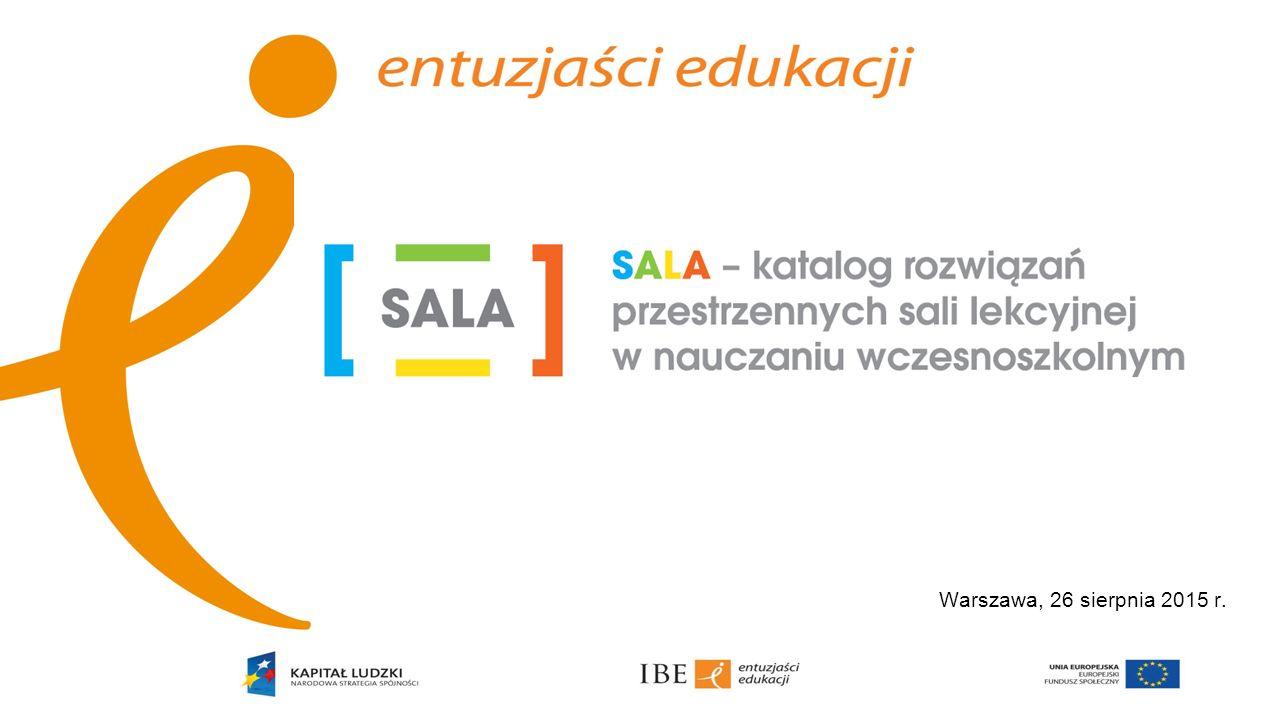 Cel badania jakościowego SALA – katalog rozwiązań przestrzennych sali lekcyjnej w nauczaniu wczesnoszkolnym jest efektem projektu badawczego zrealizowanego przez Zespół Wczesnej Edukacji Instytutu Badań Edukacyjnych w Warszawie.