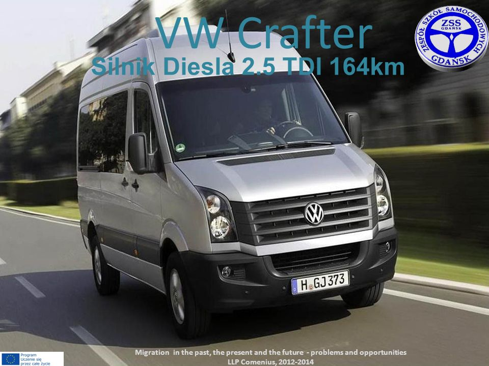 VW Crafter Silnik Diesla 2.5 TDI 164km Migration in the past, the present and the future - problems and opportunities LLP Comenius, 2012-2014