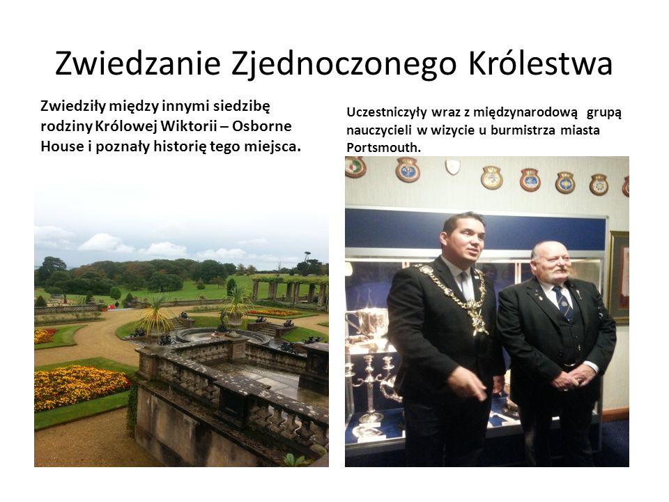 Zwiedzanie Zjednoczonego Królestwa Zwiedziły między innymi siedzibę rodziny Królowej Wiktorii – Osborne House i poznały historię tego miejsca.
