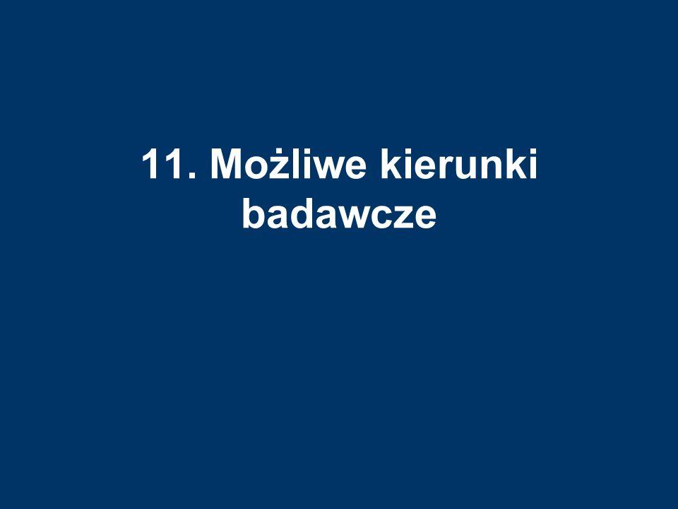11. Możliwe kierunki badawcze