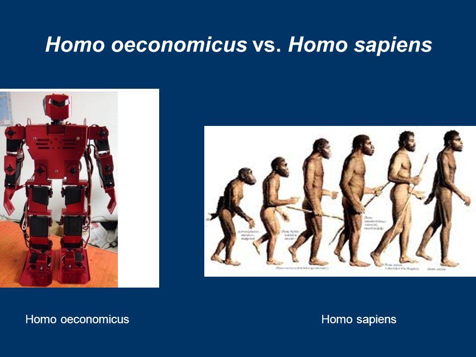 Homo oeconomicus vs. Homo sapiens Homo oeconomicusHomo sapiens