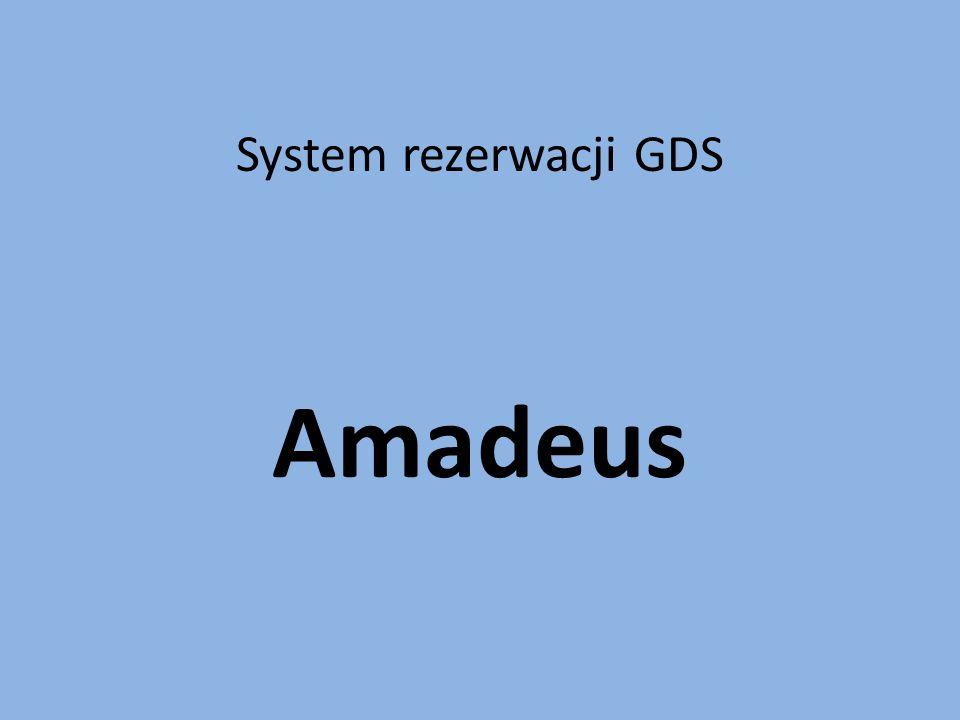 System rezerwacji GDS Amadeus