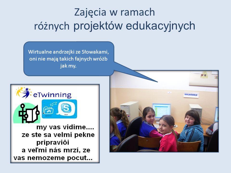 Zajęcia w ramach różnych projektów edukacyjnych Wirtualne andrzejki ze Słowakami, oni nie mają takich fajnych wróżb jak my.