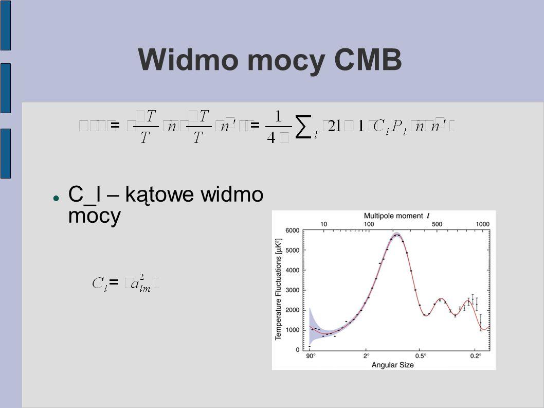Widmo mocy CMB C_l – kątowe widmo mocy