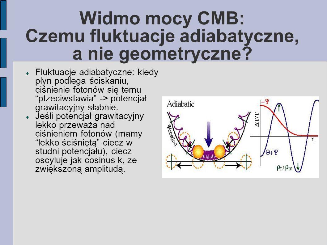 """Widmo mocy CMB: Czemu fluktuacje adiabatyczne, a nie geometryczne? Fluktuacje adiabatyczne: kiedy płyn podlega ściskaniu, ciśnienie fotonów się temu """""""