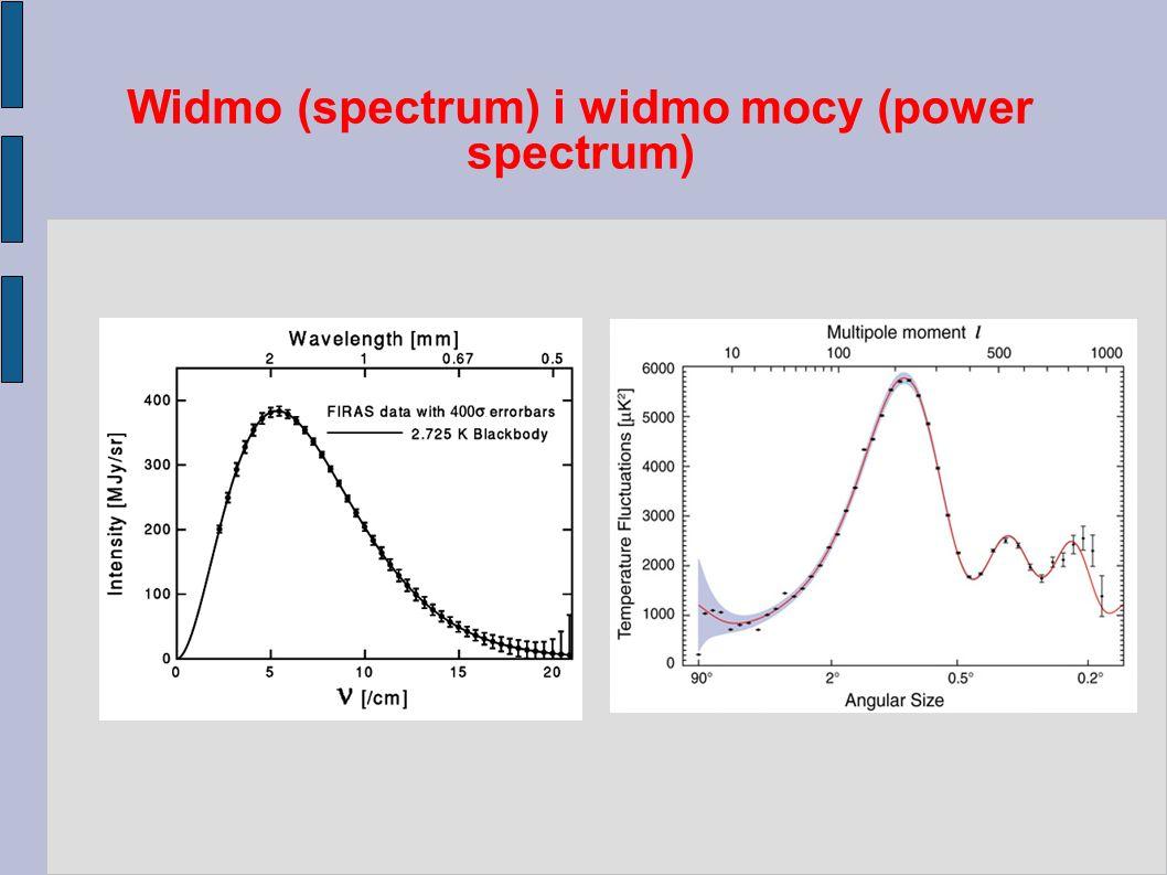 Wielkoskalowa struktura Wszechświata: widmo mocy Dla każdego punktu x w objętości V zdefiniujmy sobie tzw.