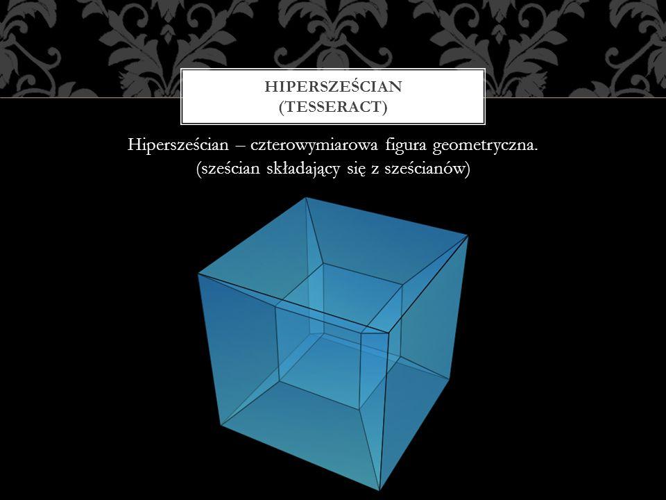 Hipersześcian – czterowymiarowa figura geometryczna. (sześcian składający się z sześcianów) HIPERSZEŚCIAN (TESSERACT)