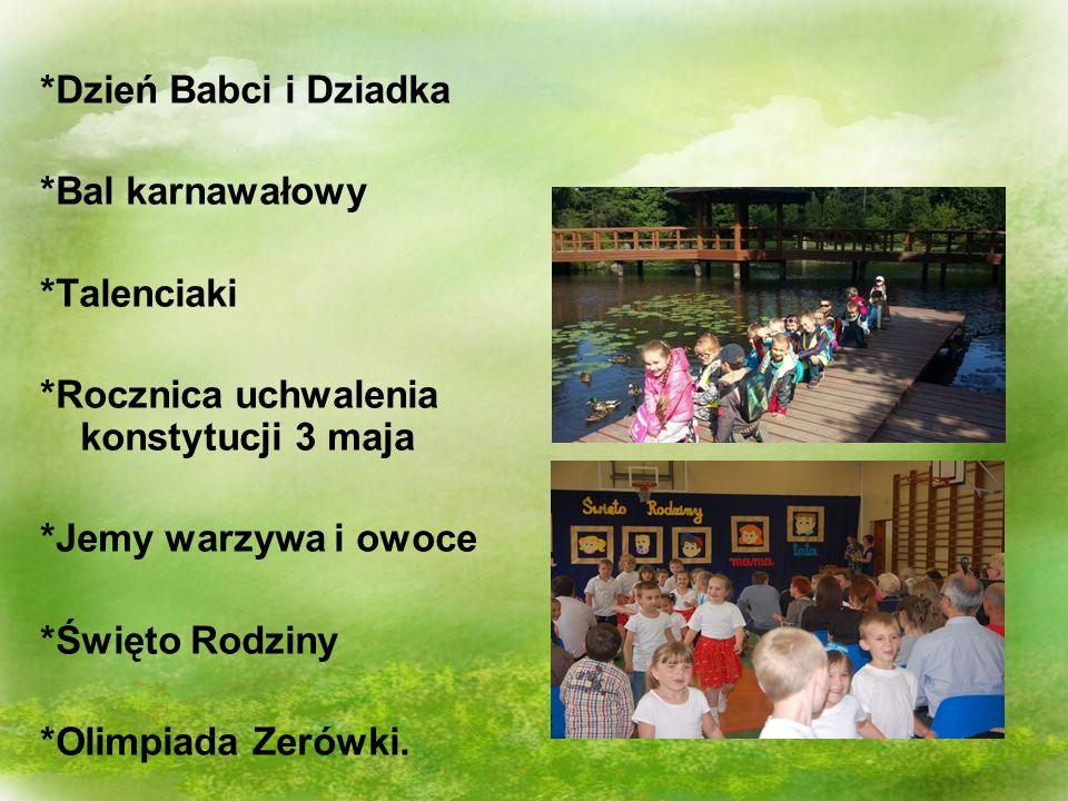 A ponadto… Udział w Polskiej Akademii Dzieci Udział w akcji Cały Wrocław czyta dzieciom, Cykl zajęć o zdrowym odżywianiu, warzywach, owocach egzotycznych, Cykl zajęć o miastach europejskich.