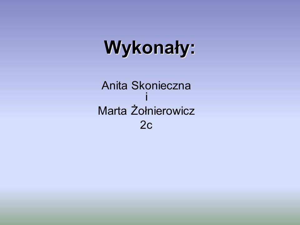 Wykonały: Anita Skonieczna i Marta Żołnierowicz 2c