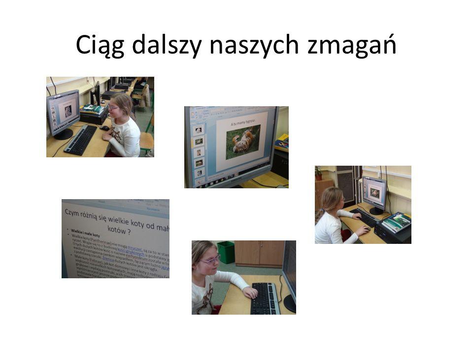 Praca nad slajdami uczniów kl. 3d
