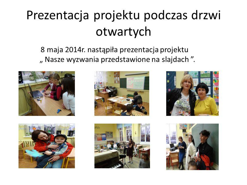 Prezentacja projektu podczas drzwi otwartych 8 maja 2014r.