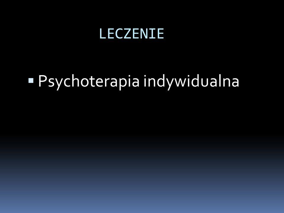  Psychoterapia indywidualna LECZENIE