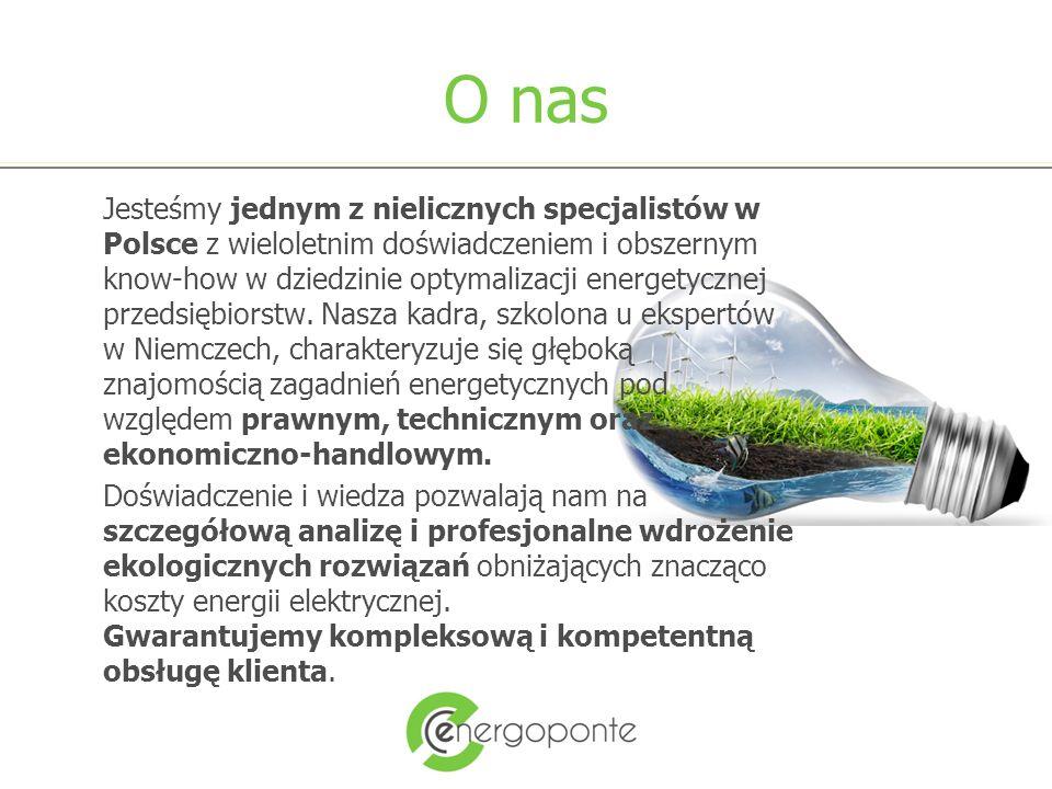 O nas Jesteśmy jednym z nielicznych specjalistów w Polsce z wieloletnim doświadczeniem i obszernym know-how w dziedzinie optymalizacji energetycznej przedsiębiorstw.