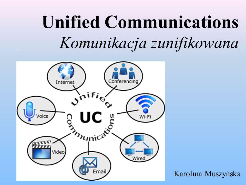 """Trendy socjologiczne a rozwój technologii komunikacji zunifikowanej  Prostota - jeden prosty interfejs z automatyczną konfiguracją na dowolnym urządzeniu, opcje dotykowe i funkcje zbudowane na zasadzie """"przeciągnij i upuść  Współpraca – dyskusje w społecznościach internetowych i na formach dyskusyjnych, integracja aplikacji komunikacji i networkingu, web 2.0 i kolaboracji  Multimedia – nowoczesne aplikacje komunikacyjne pozwalające na kontakt dowolnym sposobem, niezależnie od lokalizacji i urządzenia  Integracja – rzeczywista integracja różnych systemów i aplikacji komunikacyjnych w firmie  Analiza – wartość narzędzi komunikacyjnych nie będzie leżała w gromadzeniu i udostępnianiu informacji, ale w jej analizie i tworzeniu inteligentnych połączeń pomiędzy danymi z różnych źródeł  Standaryzacja i wirtualizacja w zakresie infrastruktury – protokół SIP, udostępnianie oprogramowania w modelu chmury"""