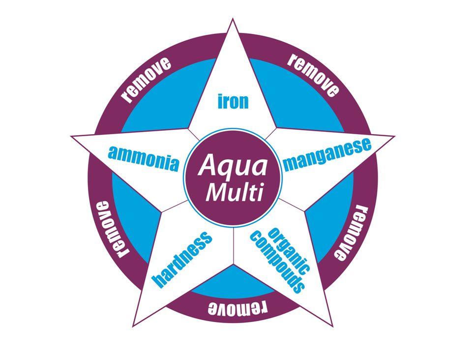 Nowe złoże do uzdatniania wody Pomaga rozwiązać problemy z: – Twardością – Żelazem – Manganem – Amoniakiem – Zw.