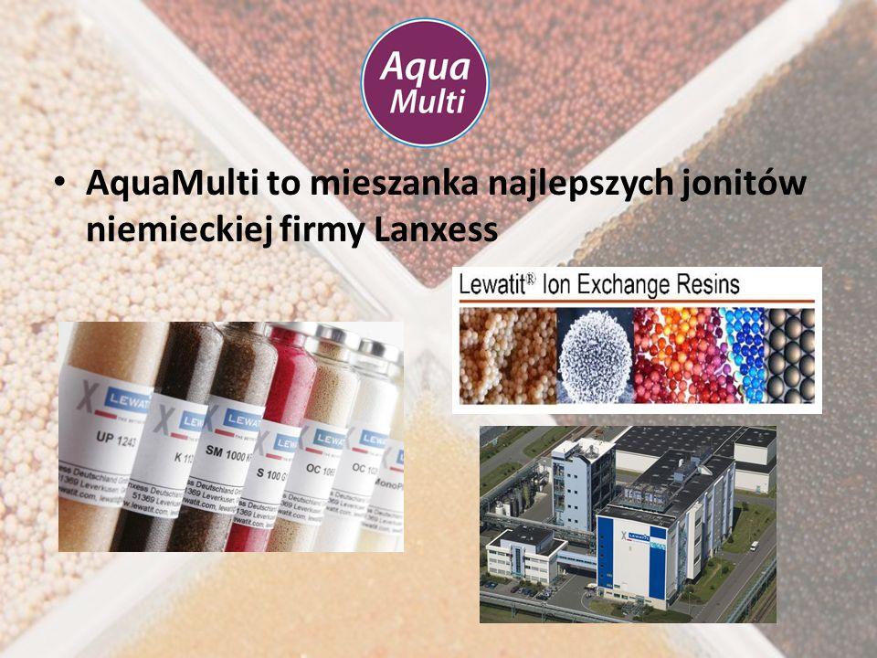 AquaMulti to mieszanka najlepszych jonitów niemieckiej firmy Lanxess