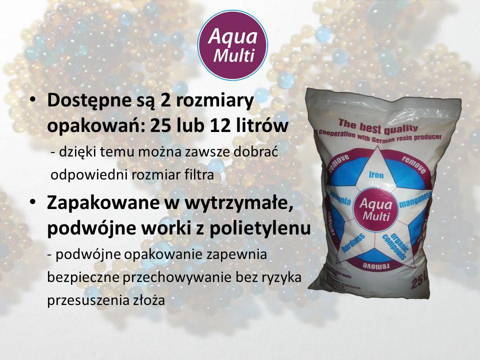 Limity zanieczyszczeń: – Twardość: bez limitu – Żelazo: 15 mg/l (wersja BIO: 10 mg/l) – Mangan: 3 mg/l – Amoniak 4 mg/l – Zw.