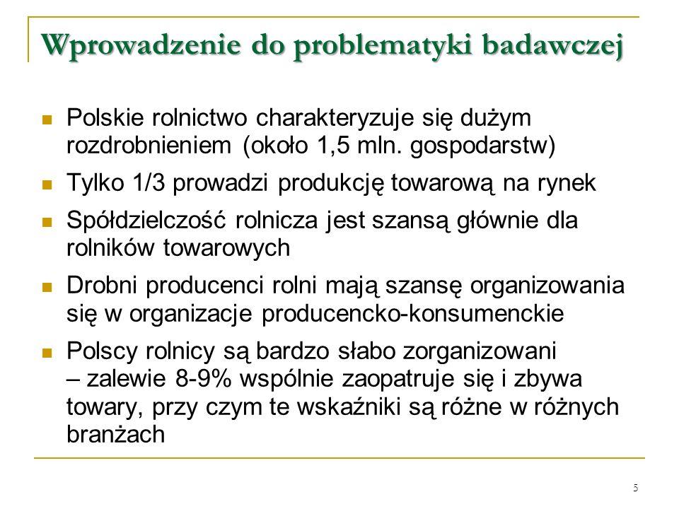Polskie rolnictwo charakteryzuje się dużym rozdrobnieniem (około 1,5 mln.