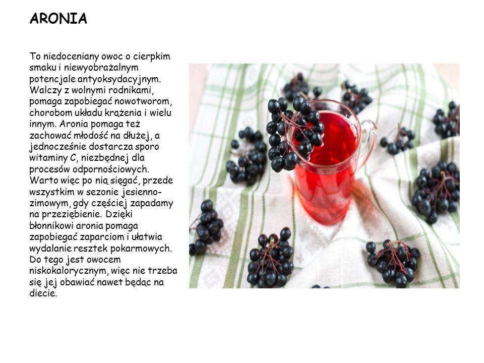 ARONIA To niedoceniany owoc o cierpkim smaku i niewyobrażalnym potencjale antyoksydacyjnym. Walczy z wolnymi rodnikami, pomaga zapobiegać nowotworom,