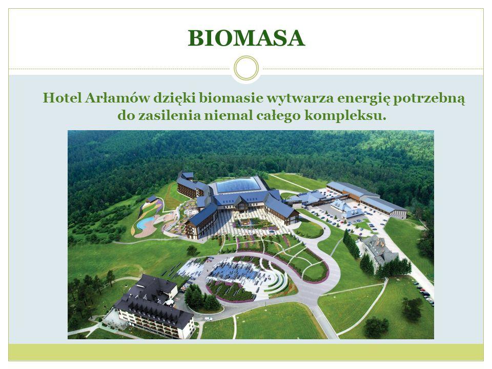BIOMASA Hotel Arłamów dzięki biomasie wytwarza energię potrzebną do zasilenia niemal całego kompleksu.