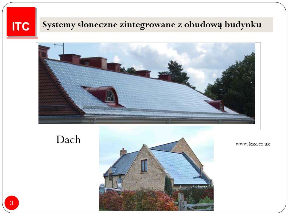 3 Systemy słoneczne zintegrowane z obudow ą budynku Dach www.icax.co.uk