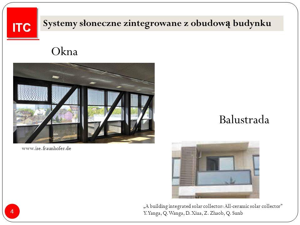 "4 Okna www.ise.fraunhofer.de ""A building integrated solar collector: All-ceramic solar collector Y."