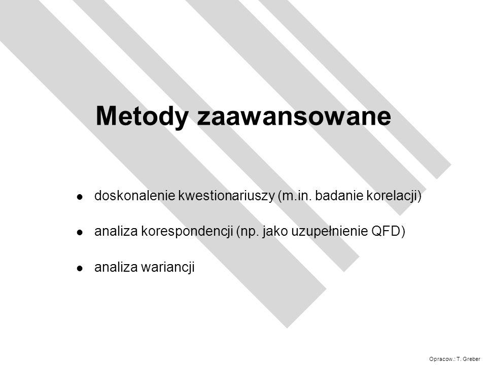 Opracow.: T.Greber Metody zaawansowane l doskonalenie kwestionariuszy (m.in.