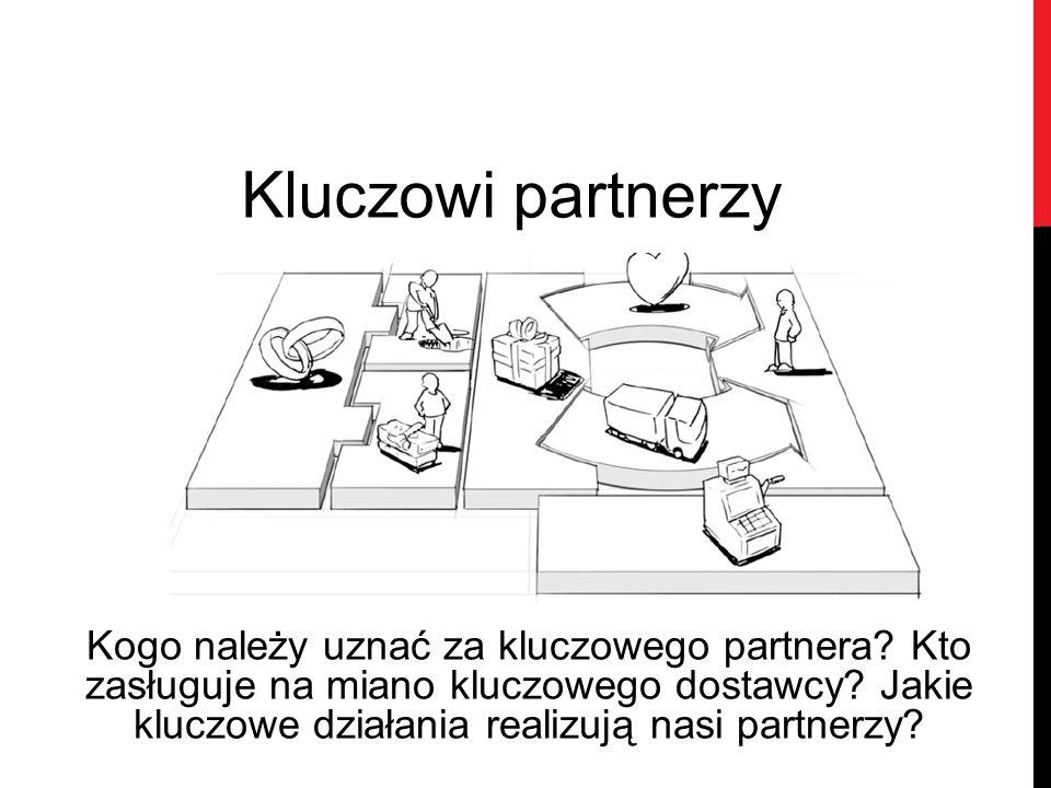 Kluczowi partnerzy Kogo należy uznać za kluczowego partnera? Kto zasługuje na miano kluczowego dostawcy? Jakie kluczowe działania realizują nasi partn