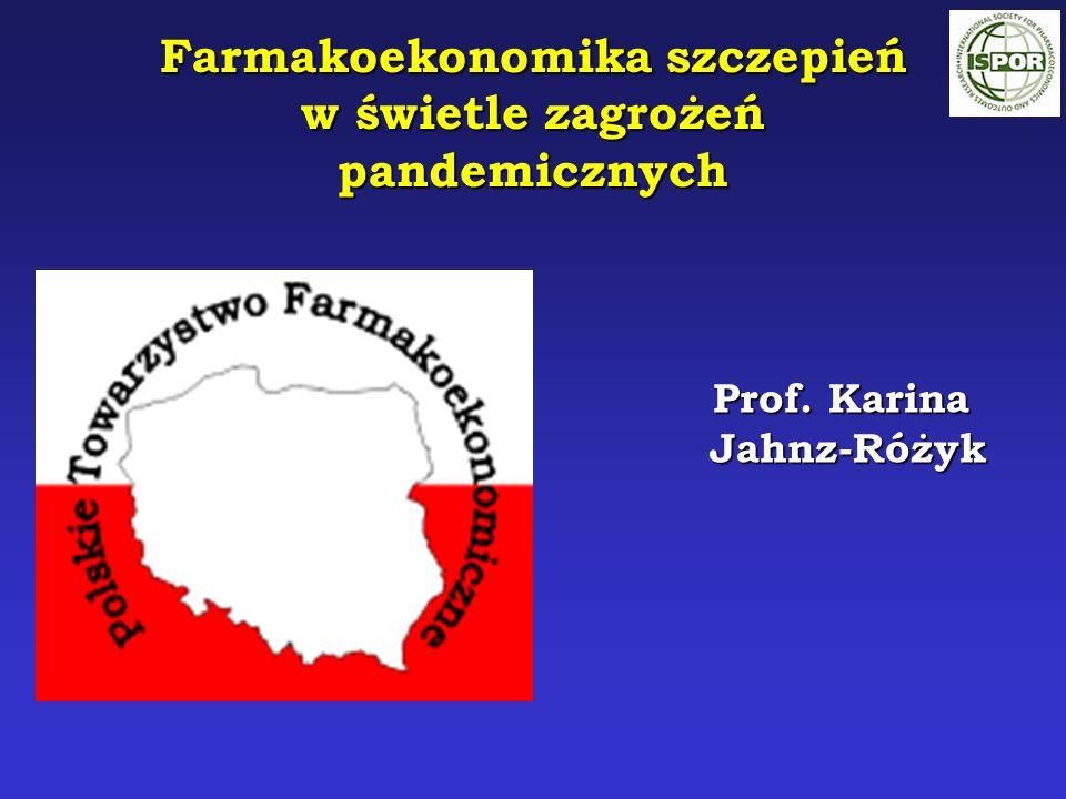 Prof. Karina Prof. Karina Jahnz-Różyk Jahnz-Różyk Farmakoekonomika szczepień w świetle zagrożeń pandemicznych