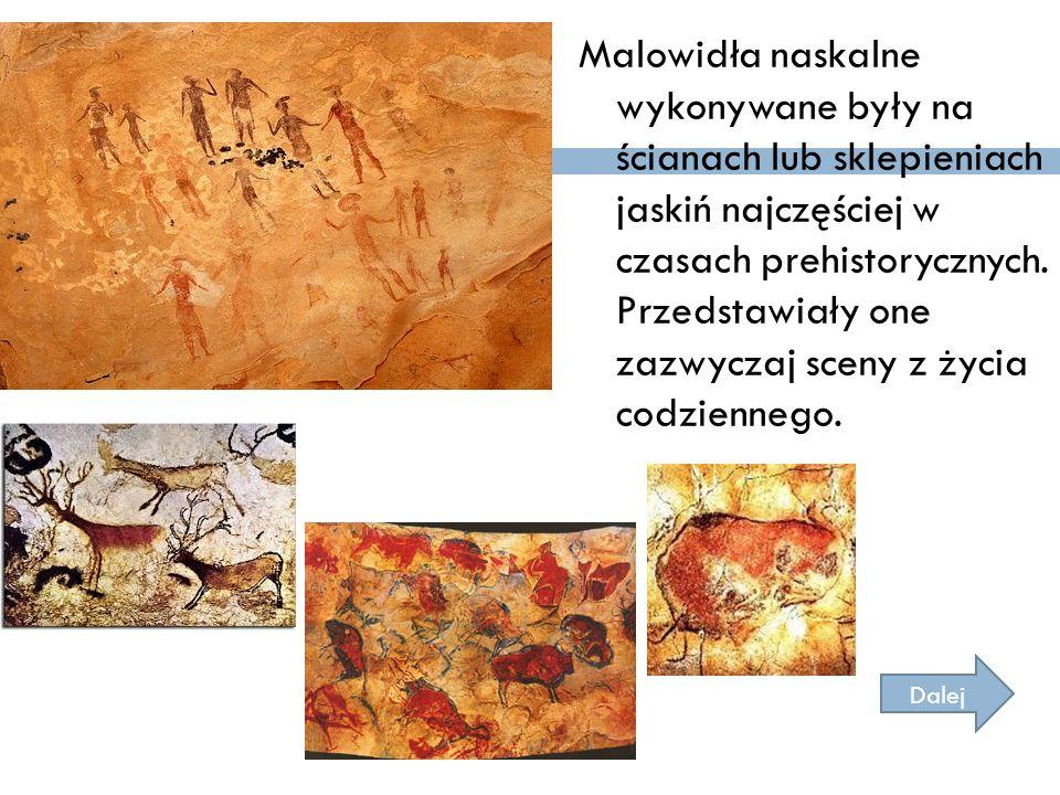Malowidła naskalne wykonywane były na ścianach lub sklepieniach jaskiń najczęściej w czasach prehistorycznych. Przedstawiały one zazwyczaj sceny z życ