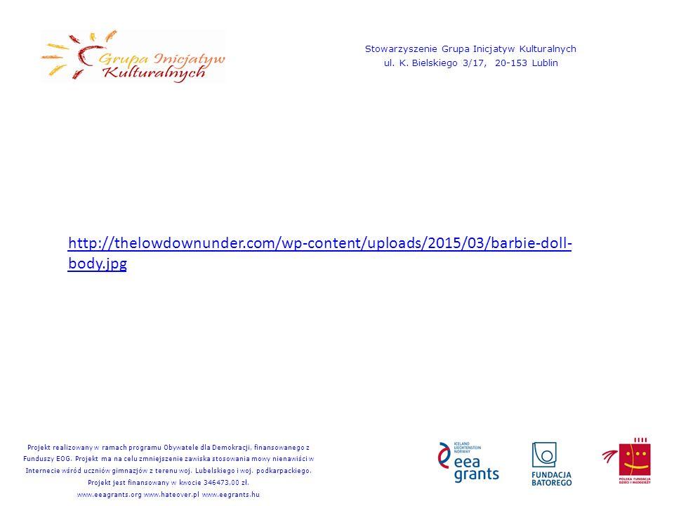 http://thelowdownunder.com/wp-content/uploads/2015/03/barbie-doll- body.jpg Stowarzyszenie Grupa Inicjatyw Kulturalnych ul. K. Bielskiego 3/17, 20-153