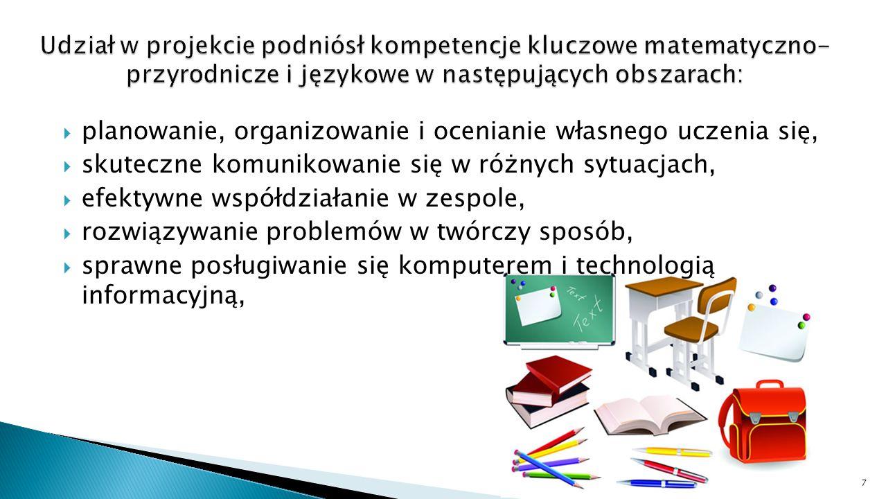  Wiedzę należy zdobywać aktywnie poprzez: ◦ zaangażowanie ◦ badanie ◦ przekształcanie ◦ prezentację ◦ refleksję 17