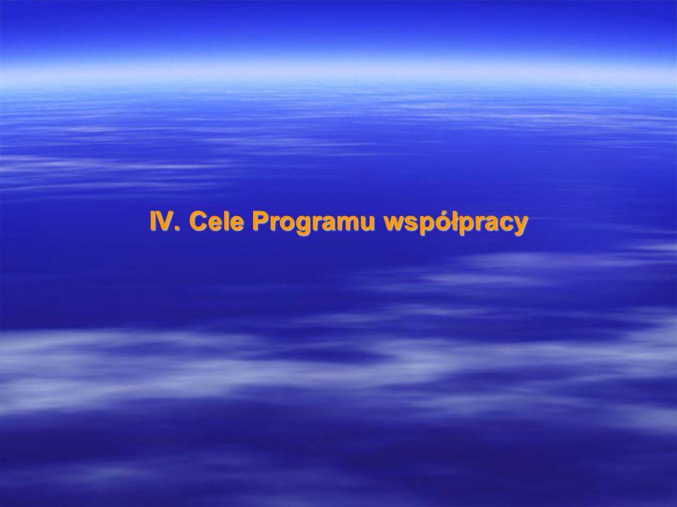 IV. Cele Programu współpracy