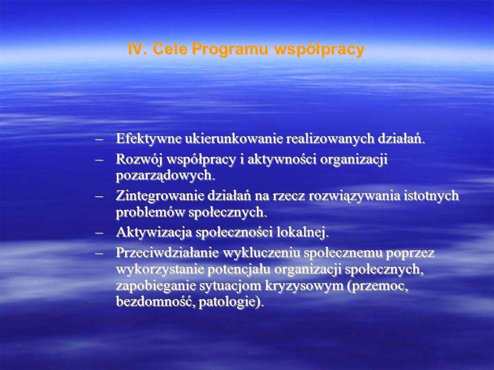 –Efektywne ukierunkowanie realizowanych działań.