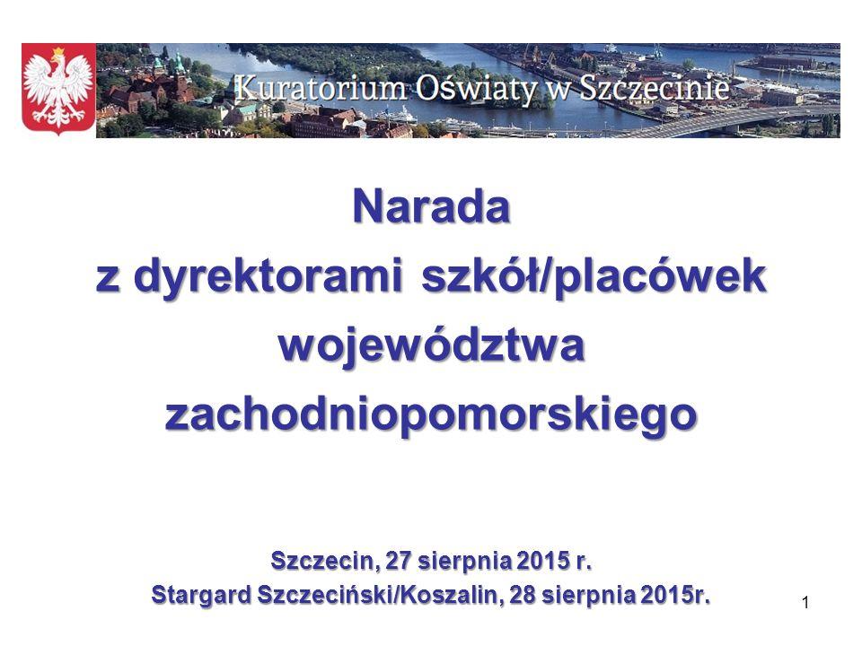 Program spotkania 1.Wnioski z nadzoru pedagogicznego sprawowanego przez Zachodniopomorskiego Kuratora Oświaty w roku szkolnym 2014/2015.